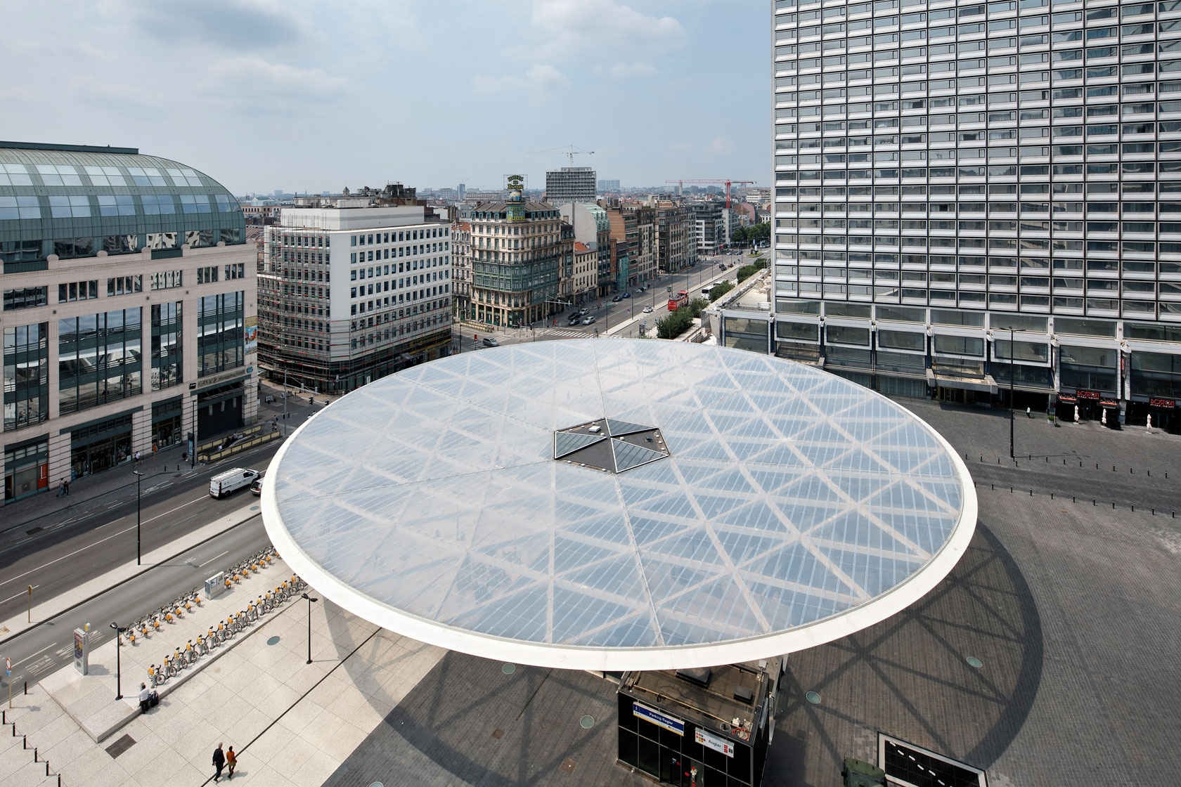 Place Rogier, Brussels - Arch. XDGA